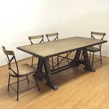 Rustic Vintage Dining Area Industrial Dining Table Reclaimed Rustic Vintage Dining Table
