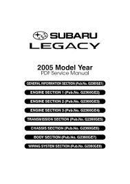 2005 subaru legacy service manual pdf 4610 pages
