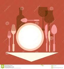 romantic dinner table setting in a restaurant stock vector