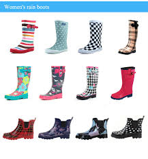 womens wellington boots australia 2017 best sale knee high plain black rubber gumboots