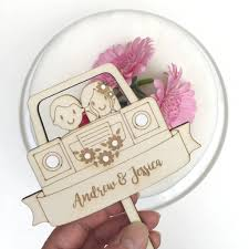 land rover wooden personalised wooden landrover wedding cake topper by just toppers