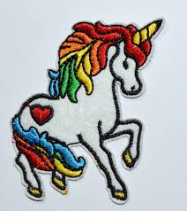 unicorn rainbow unicorn rainbow iron on patch heart 70 u0027s retro kawaii kitsch
