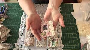 shabby chic fabric and image pocket letter youtube