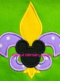 mardi gras embroidery designs mickey fleur de lis mardi gras applique machine embroidery design