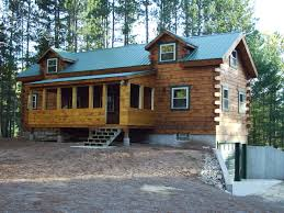 two story log cabin floor plans