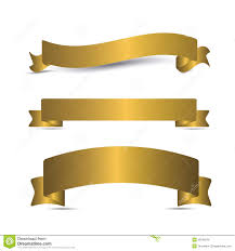 gold ribbons gold ribbon collection stock image image of gold 31747303