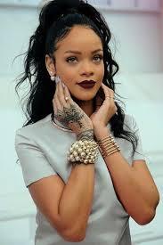 rihanna earrings make up lipstick rihanna brand lipstick pearl gold bracelet