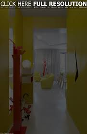 Hallway Color Ideas by Eye Catching Hallway With Striking Yellow And Red Color Ideas Grab