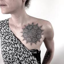 pretty mandala on chest best design ideas