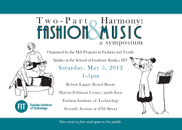 Sample Invitation Card For An Event Event Fashion And Music Symposium U2013 Worn Through