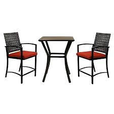 Bistro Set Bar Height Outdoor by Patio Ideas Eastham 3 Piece Patio Bistro Set Three Piece Bistro