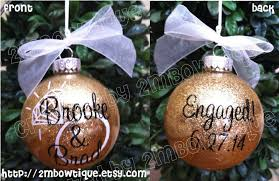 engagement ornament personalized ornament unique engagement
