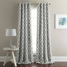 Gray Window Curtains Geometric Curtains Ebay