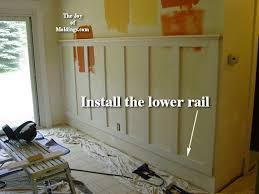 Wainscoting Around Windows How To Install Tall Wainscoting 100 For About 10 33 Ft The Joy