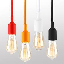 multi colored light fixture ul listed single socket pendant light fixture multi color options