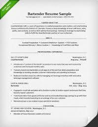 Latest Resume Samples by Professional Bartender Resume 6730 Plgsa Org
