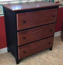 Three Drawer Wood File Cabinet by Solid Wood Three Drawer Chest