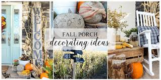 fall porch decorating ideas the wood grain cottage