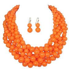 orange beaded necklace images Orange beaded necklaces jpg