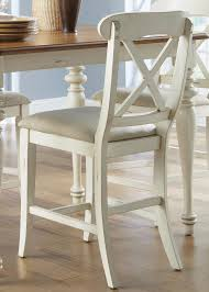 x back counter height dining chair with upholstered seat by
