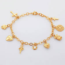 bracelet charms cross images Kpop gold silver color charms bracelet fairy cross bear hearts jpg