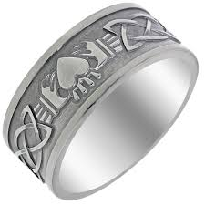 titanium celtic wedding bands wedding rings scottish wedding ring right titanium claddagh
