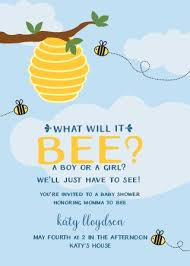 what will it bee baby shower gender reveal baby shower invitations match your color style free