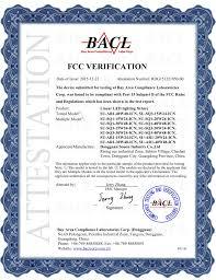 fcc compliant led lights fcc certificate for linear led lighting