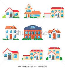 Conceptmodern Set Real Estate Concept Modern Small Stock Vector 368204597