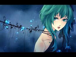 anime music girl wallpaper anime girl blue hair enjoy the music wallpapers hd wallpaper gallery