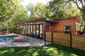 Backyard Guest Houses by Travis Heights Guest House Modern Patio Austin By
