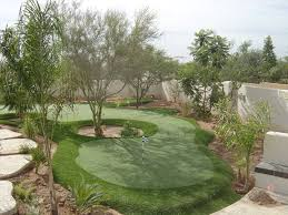Backyard Putting Green Designs by Synthetic Grass Putting Green Landscape Design Pinterest