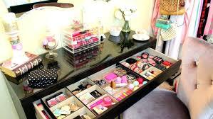 ikea makeup organizer makeup containers ikea dark wood makeup organizer with storage cart