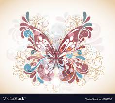 abstract butterfly with swirls royalty free vector image