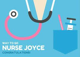 Congratulations Nurse Card Blue Nurse Uniform Graduation Card Templates By Canva
