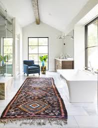 Rugs In Bathroom Large Pattern Runner Rug In Bathroom Design Tatum Brown Custom
