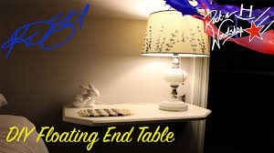 Floating End Table by Diy Floating End Tables Youtube