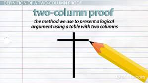 two column proof in geometry definition u0026 examples video
