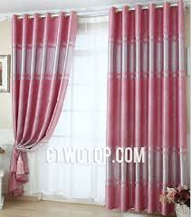 cute pink color energy saving living room or bedroom blackout curtains