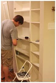 ikea kitchen pantry cabinet easy diy freestanding pantry with doors from a billy bookcase
