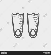swimming flippers sketch icon web vector u0026 photo bigstock