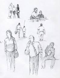 more street scenes and some figure sketches ralph parker artist