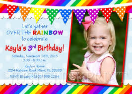 best sample birthday card invitation templates over the rainbow