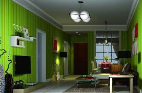Green Living Room Furniture by Natural Green Wall And Curtain For Interior Ideas Penaime