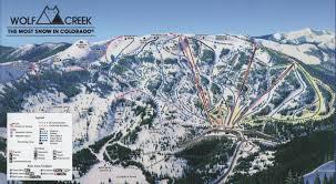 Colorado Ski Resorts Map by Wolf Creek Ski Area Skimap Org