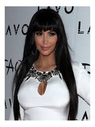 Human Hair Fringe Extensions by Stock Long Straight Human Hair Full Lace Wig With Bang Straight