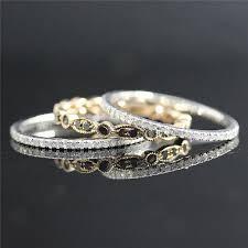 black diamond band black diamond ring set 2pcs simple diamond eternity band and
