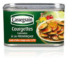 courgettes cuisin s conserve de courgettes cuisinées à la provençale à l huile d olive