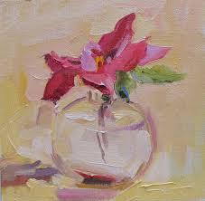 linda hunt fine art rose in glass bottle