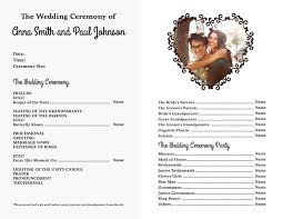 church wedding program template free wedding program templates free obituaries church bulletins